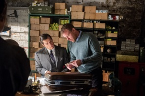 Henry Cavill & Guy Ritchie on set 'The Man from U.N.C.L.E.'