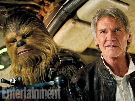 """Chewie, we're home."" Entertainment Weekly's Star Wars: The Force Awakens report will include the story of Harrison Ford's emotional first day on set."