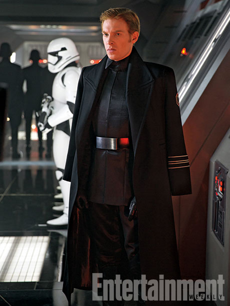 Domhnall Gleeson as General Hux, a cruel leader of The First Order who craves to show the galaxy his might. (This image was briefly shown at Comic-Con but never released in detail until now.)