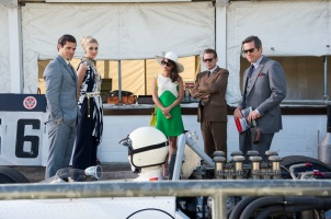 Henry Cavill, Elizabeth Debicki, Alicia Vikander & Hugh Grant in 'The Man from U.N.C.L.E.'