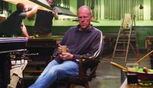 Brian Helgeland on set 'Legend'