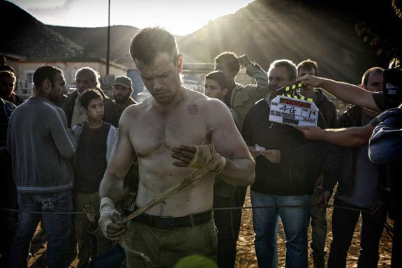 Matt Damon as Jason Bourne on set 'Bourne 5'