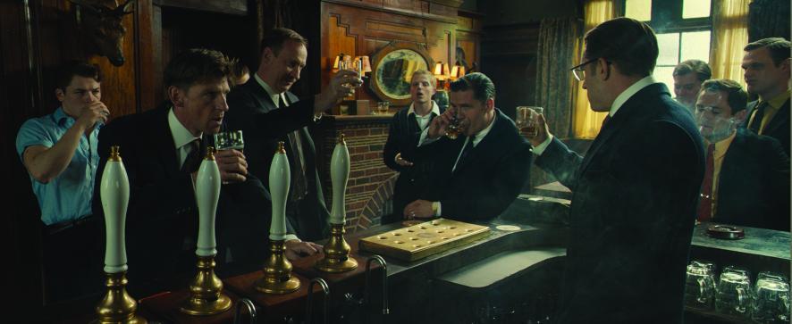 Taron Egerton, Paul Anderson, David Thewlis, Charley Palmer Rothwell & Tom Hardy in 'Legend'