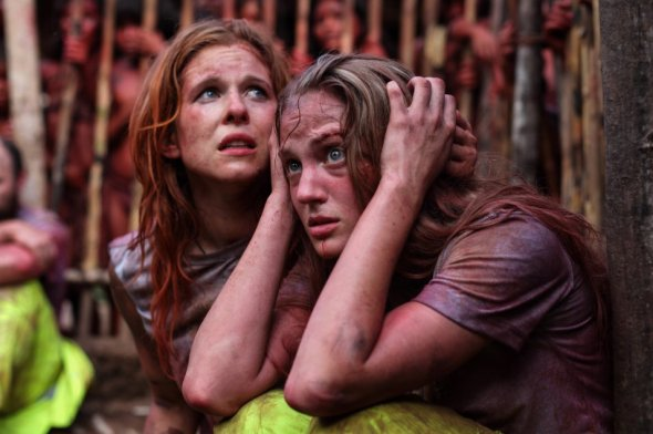 Magda Apanowicz & Kirby Bliss Blanton in 'The Green Inferno'