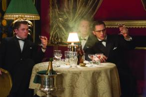 Taron Egerton, Charley Palmer & Tom Hardy in 'Legend'