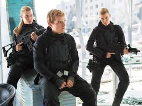 Misty Ormiston, Josh Hutchinson & Kim Ormiston in 'The Hunger Games: Mockingjay - Part 2'