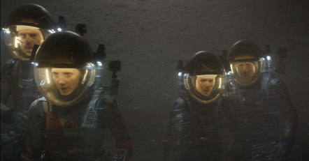 Sebastian Stan, Jessica Chastain, Kate Mara & Aksel Hennie in 'The Martian'