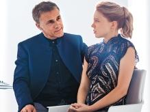 Christoph Waltz & Lea Seydoux in 'Spectre'