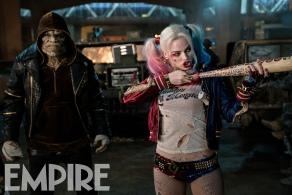Adewale Akinnuoye-Agbaje & Margot Robbie in 'Suicide Squad'