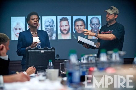 Viola Davis & David Ayer on set 'Suicide Squad'