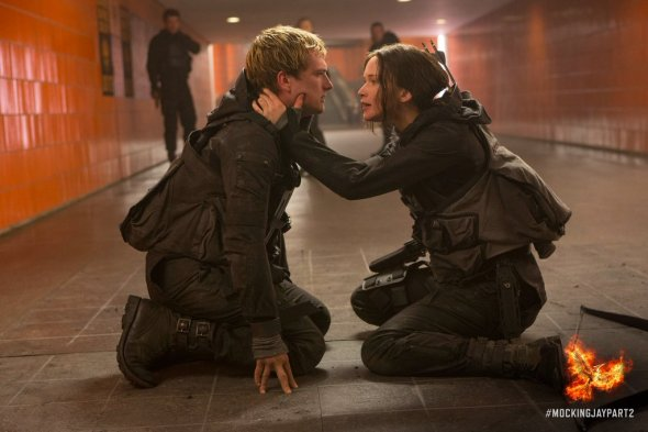 Josh Hutchinson & Jennifer Lawrence in 'The Hunger Games: Mockingjay - Part 2'