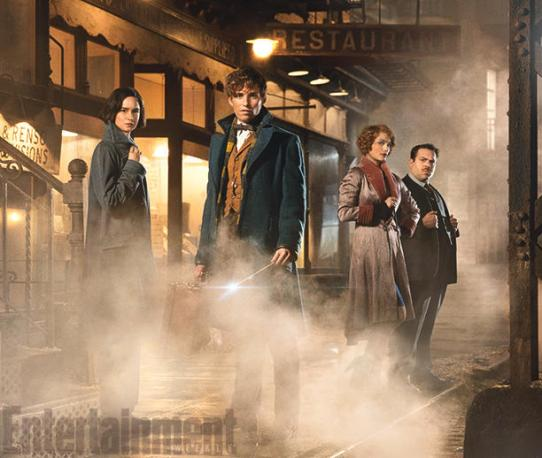 Katherine Waterston, Eddie Redmayne, Alison Sudol & Dan Fogler in 'Fantastic Beasts and Where to Find Them'