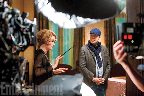 Alison Sudol & David Yates on set 'Fantastic Beasts and Where to Find Them'