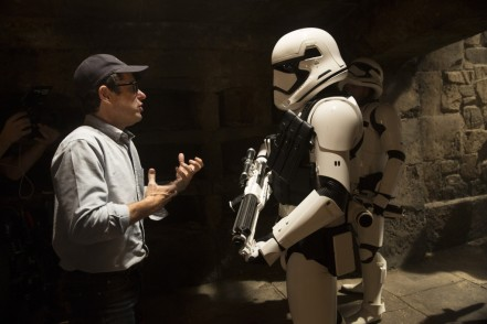 J.J. Abrams on set 'Star Wars: The Force Awakens'