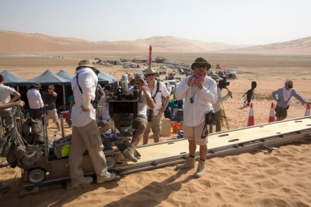On set 'Star Wars: The Force Awakens'