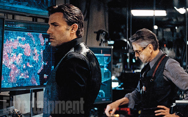 Ben Affleck & Jeremy Irons in BATMAN V SUPERMAN