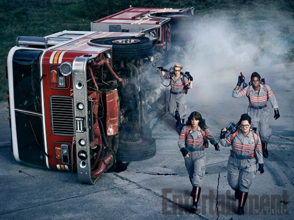 Kristen Wiig, Melissa McCarthy, Kate McKinnon & Leslie Jones for GHOSTBUSTERS