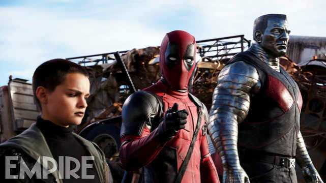 Brianna Hildebrand, Ryan Reynolds & Stefan Kapicic in DEADPOOL