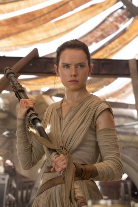 Daisy Ridley as Rey in 'Star Wars' The Force Awakens'