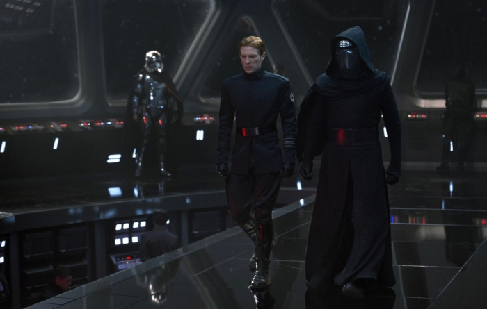 Domhnall Gleeson & Adam Driver in STAR WARS: THE FORCE AWAKENS