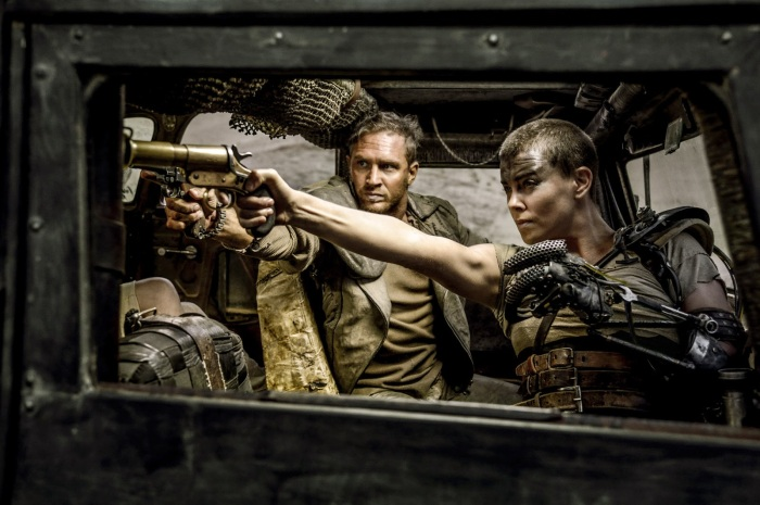 Tom Hardy & Charlize Theron in MAD MAX: FURY ROAD