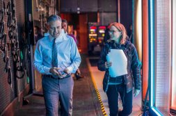 George Clooney & Jodie Foster on set 'Money Monster'