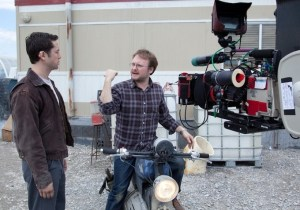 Joseph Gordon-Levitt & Rian Johnson filming 'Looper'