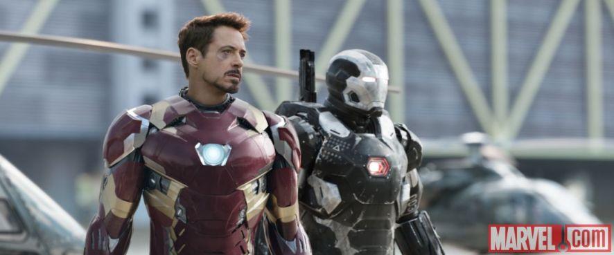 Robert Downey Jr. as Iron Man in 'Captain America: Civil War'
