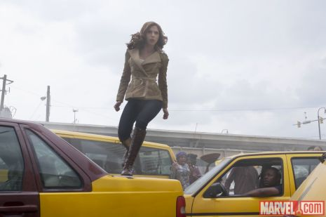 Scarlett Johnasson as Natasha Romanoff in 'Captain America: Civil War'
