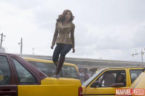 Scarlett Johnasson as Natasha Romanoff in 'Captain America: Civil War'