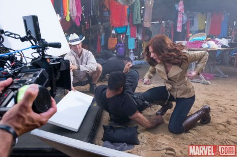 Scarlett Johansson as Natasha Romanoff for 'Captain America: Civil War'