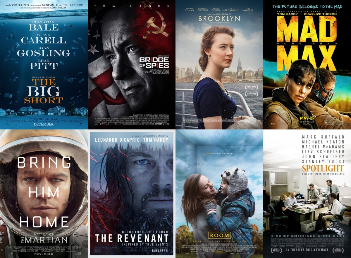 Oscars 2016 ranking the best picture nominations for Oscar awards winning movies