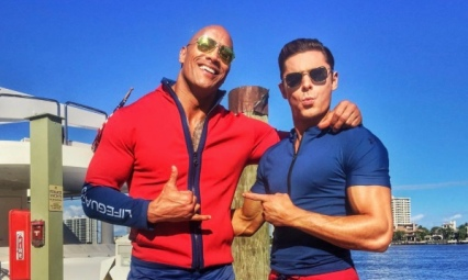 Dwayne Johnson & Zac Efron for 'Baywatch'