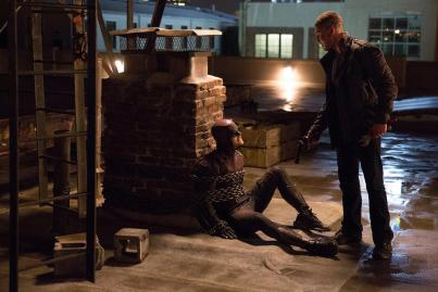 Charlie Cox & Jon Bernthal in Daredevil Season 2