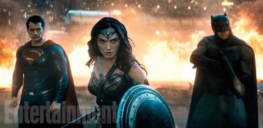 Henry Cavill, Gal Gadot & Ben Affleck in 'Batman v Superman: Dawn of Justice'
