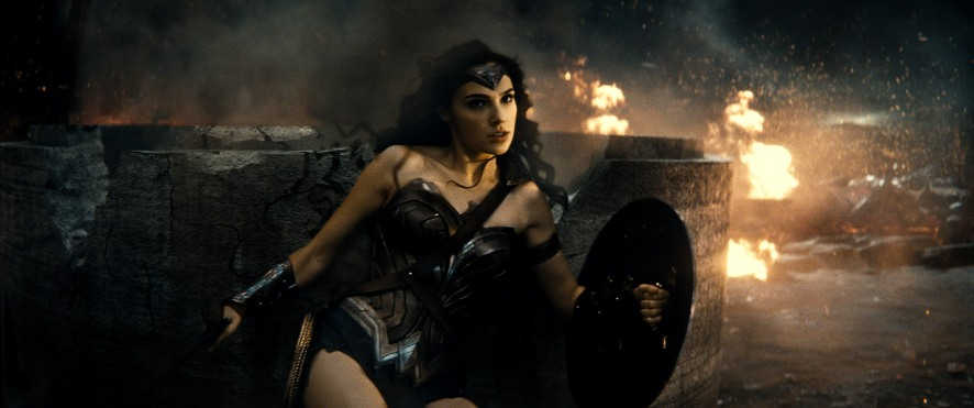 Gal Gadot as Wonder Woman in Batman v Superman: Dawn of Justice