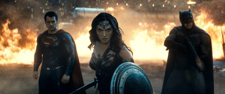 Henry Cavill, Gal Gadot & Ben Affleck in Batman v Superman: Dawn of Justice