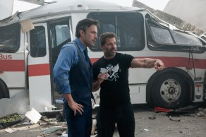 Ben Affleck & Zack Snyder on set Batman v Superman: Dawn of Justice