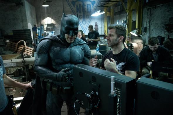 Ben Affleck & Zack Snyder on set Batman v Superman: Dawn of Justice