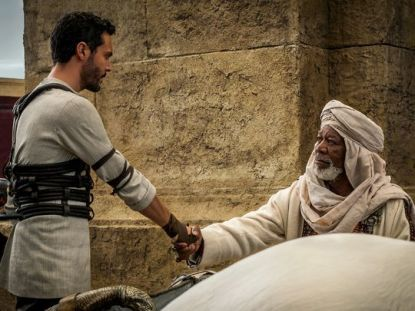 Jack Huston & Morgan Freeman in Ben-Hur