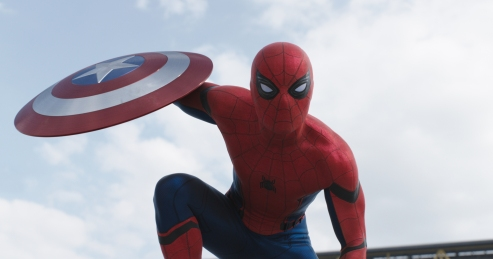 Tom Holland as Spider-Man in 'Captain America: Civil War'