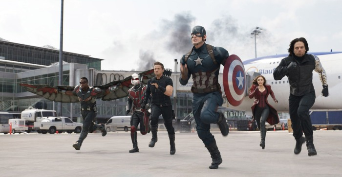 Team Cap in 'Captain America: Civil War'