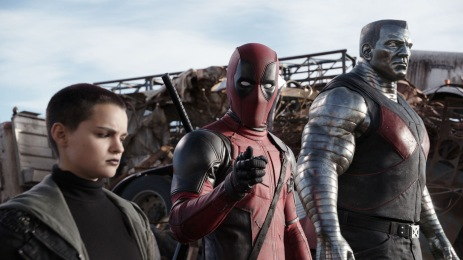 Brianna Hildebrand & Ryan Reynolds in 'Deadpool'