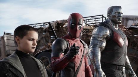 Brianna Hildebrand & Ryan Reynolds in 'Deadpool'
