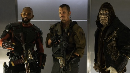 Will Smith, Joel Kinnaman & Adewale Akinnuoye-Agbaje in Suicide Squad