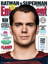EW 'Batman v Superman: Dawn of Justice' Superman Cover