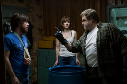 John Gallagher Jr., Mary Elizabeth Winstead & John Goodman in '10 Cloverfield Lane'