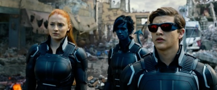 Sophie Turner, Kodi Smit-McPhee & Tye Sheridan in 'X-Men: Apocalypse'