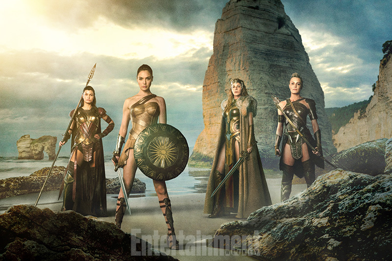 Lisa Loven Kongsli, Gal Gadot, Connie Nielsen & Robin Wright in Wonder Woman