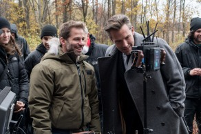 Zack Snyder & Ben Affleck on set Batman v Superman: Dawn of Justice